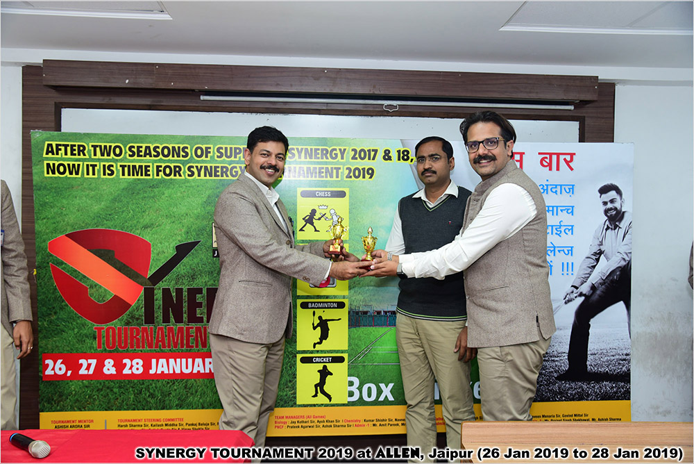 SYNERGY TOURNAMENT 2019 at ALLEN, Jaipur (26 Jan