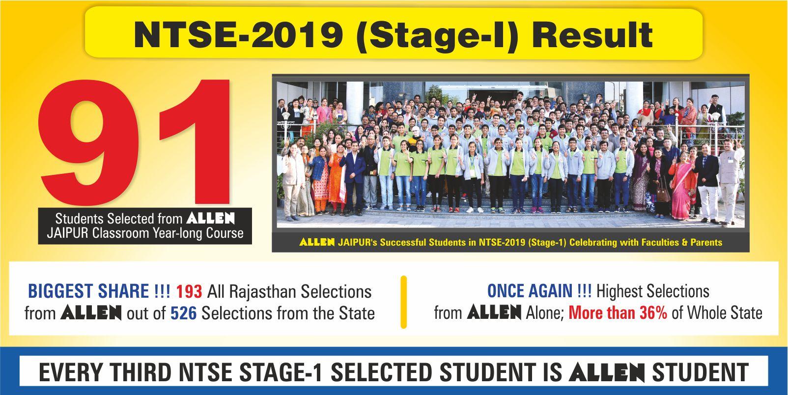 NTSE (Stage-I) 2019